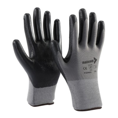 P35NBA, Seamless Nitrile Gloves for mallcom Hand protection. It is Seamless nitrile dipped gloves