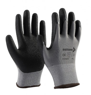 P35NBG, Seamless Nitrile Gloves for mallcom Hand protection. It is Seamless nitrile gloves
