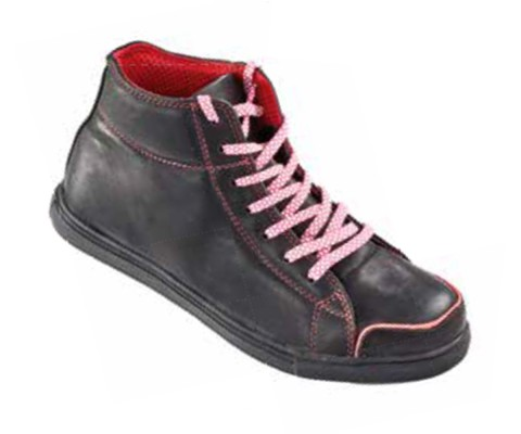 SAVANNAH, Cemented Sole Shoes for mallcom Feet protection. It is High ankle leather boot