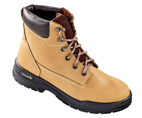 SERENGETI, Double Density Oliver Sole Shoes for mallcom Feet protection. It is High ankle leather boot