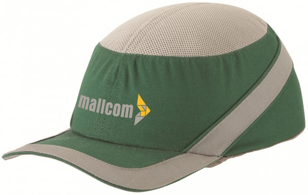 SAPPHIRE G, Bump Cap for mallcom Head protection. It is Long peak baseball type cap