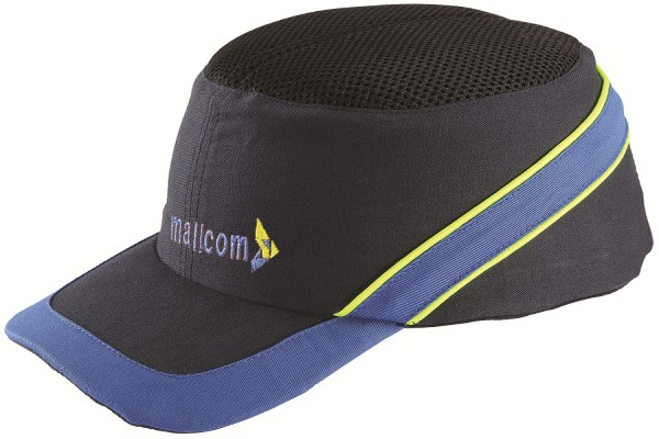 TOPAZ HI-VIS, Bump Cap for mallcom Head protection. It is Long peak baseball type cap