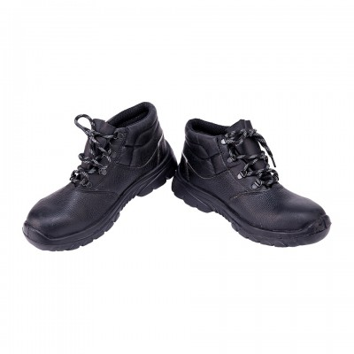 VIVVERA, Double Density Oliver Sole Shoes for mallcom Feet protection. It is High ankle safety shoes